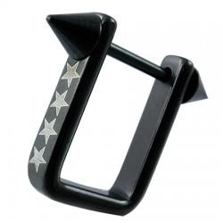 Bouclier de téton 11 - Noir rectangulaire étoiles