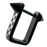 Bouclier de téton 28 - Noir avec damier