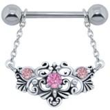 Piercing téton barbell 84 - Motif deluxe A pendant