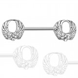 Piercing téton barbell 90 - Quatre ailes