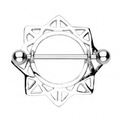 Piercing téton étoile 01 - Avec creux