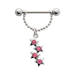 Piercing téton étoile 05 - Pendantes