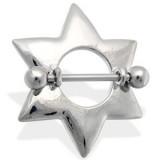 Piercing téton étoile 08 - Simple grise