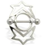 Piercing téton étoile 14 - Cercle entouré