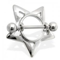 Piercing téton étoile 15 - Creuse