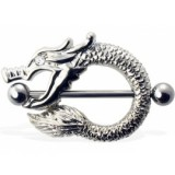 Piercing téton dragon oeil strass (34)