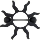 Piercing téton soleil noir (28)