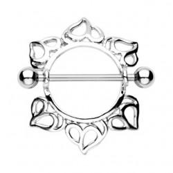 Piercing téton bouclier abstrait A (42)