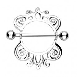 Piercing téton bouclier abstrait B (44)