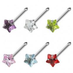 Piercing nez droit 0,8mm 32 - Cristal étoile