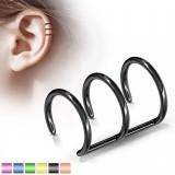 Faux Piercing oreille 08 - Triple anneau PVD