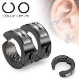 Faux Piercing oreille 39 - Clip croix (la paire)