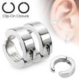 Faux Piercing oreille 44 - Clip gris (la paire)