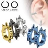 Faux Piercing oreille 48 - Clip pointes (la paire)