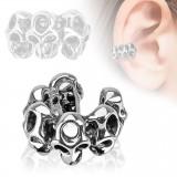 Faux Piercing oreille 50 - Bague crâne