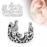 Faux Piercing oreille 53 - Bague couronne