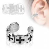 Faux Piercing oreille 57 - Bague croix