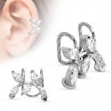 Faux Piercing oreille 66 - Feuilles