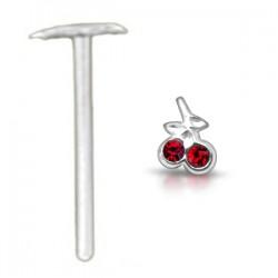 Piercing nez pliable 0.5mm 29 - Cerise rouge