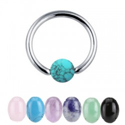 Piercing micro-bcr 06 - Boule en pierre