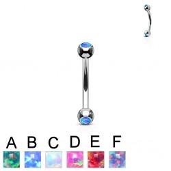 Piercing arcade 75 - strass opale