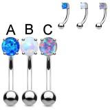 Piercing arcade 76 - Gem opale