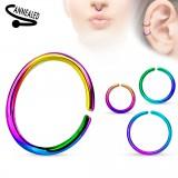Anneau de nez 0,8mm ou 1mm - PVD rainbow simple