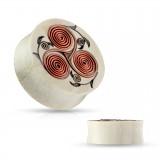Plug en bois avec fils de cuivre en spirales