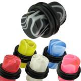 Plug acrylique UV marbre o-ring