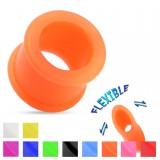 Tunnel flexible en silicone unicolore