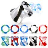 Plug acrylique glass twist