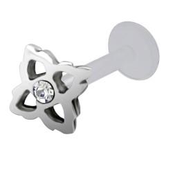 Piercing micro-labret PTFE 08 - Fleur creuse
