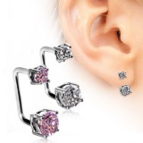 Piercing oreille original 22 - En U zircones