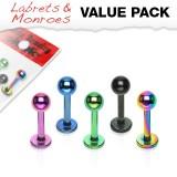Pack de micro-labrets 03 - PVD boule