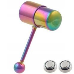 Piercing langue vibrant 01 - PVD rainbow