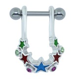 Piercing hélix 02 - étoiles colorées