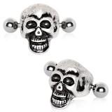 Piercing hélix 158 - Crâne gris