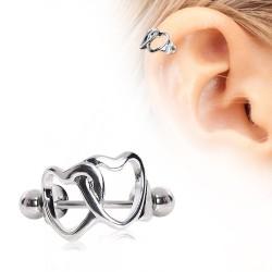 Piercing hélix 139 - Double coeur