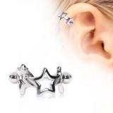 Piercing hélix 70 - Deux étoiles
