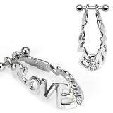 Piercing hélix 50 - Bouclier love