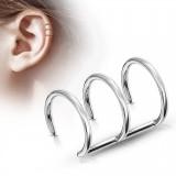 Faux Piercing oreille 02 - Triple anneau