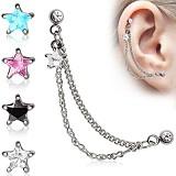 Chaine pour oreille 18 - étoile