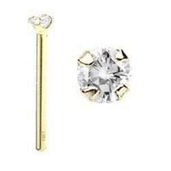 Piercing nez pliable 0.5mm 91 - OR-14k jaune cristal