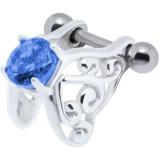 Piercing hélix 06 - Zircone bleu