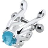 Piercing hélix 26 - Angel bleu-clair