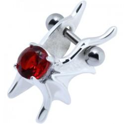 Piercing hélix 59 - Zircone rouge