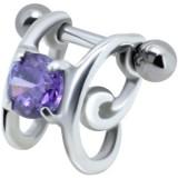 Piercing hélix 75 - Zircone violet