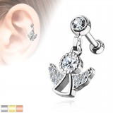 Cartilage hélix, tragus 388 - Petit ange pendant
