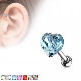 Cartilage hélix, tragus 381 - Coeur zircone