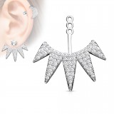 Jacket oreille 24 - Cinq pointes multistrass